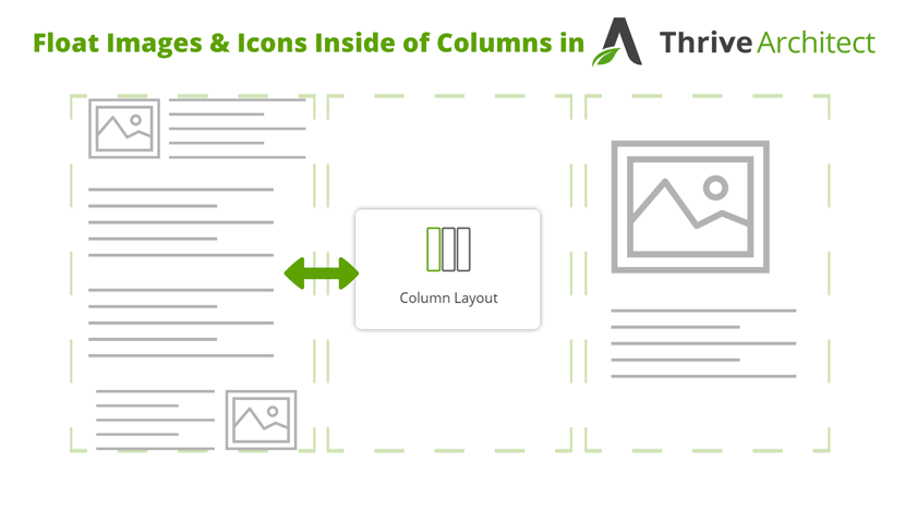 Tutorial on how to float images and icons inside thrive architect columns