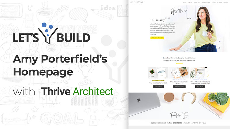 How to Build a website like Amy Porterfield