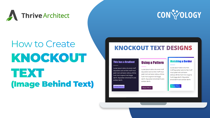 Create knockout text or image mask text in thrive architect